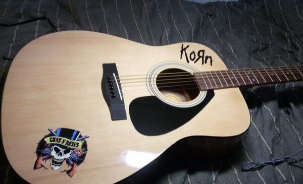 Наклейка на деку гитары Guns n Roses 2