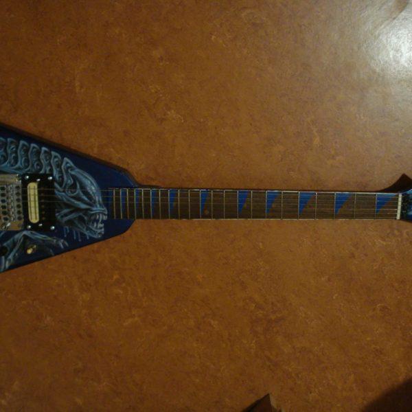 Комплект наклеек акула на гриф гитары