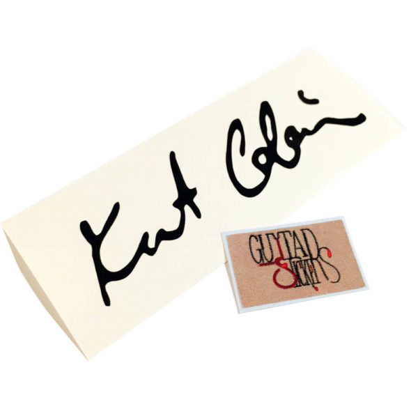 Наклейка автограф курта кобейна