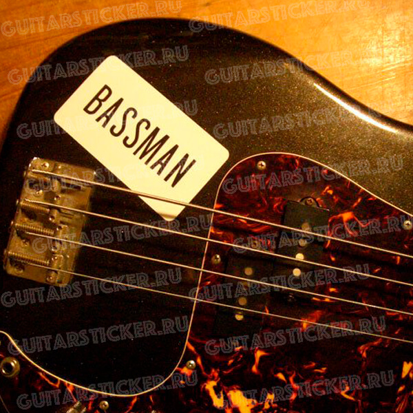 Купить наклейку bassman как у Пола Маккартни