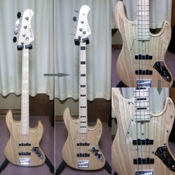 Купить наклейки в виде квадратных блоков черного цвета для грифа бас-гитары