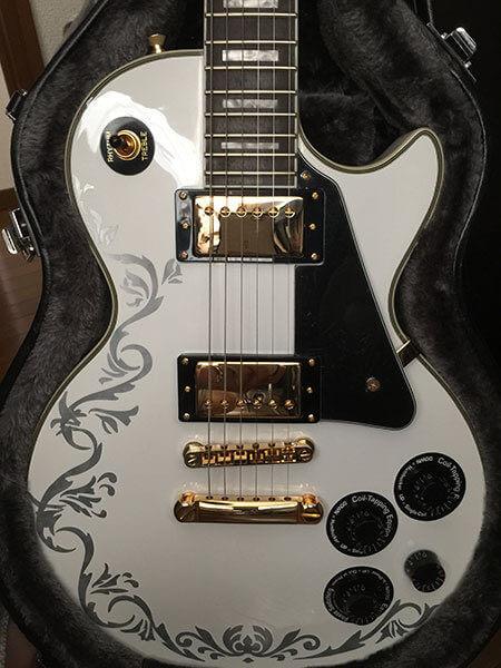 Комплект наклеек хохлома лоза на деку гитары