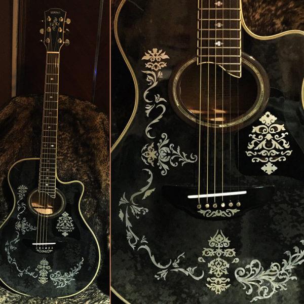 Красивые наклейки для деки гитары