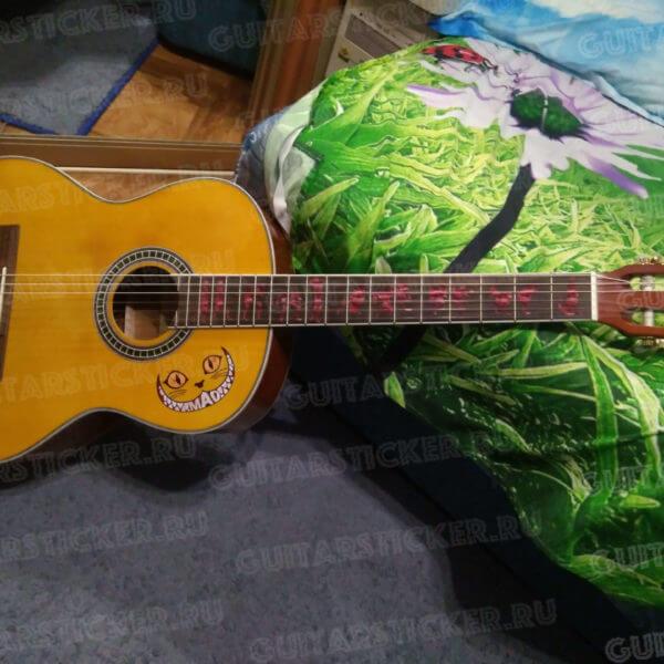 Купить наклейки на гриф гитары человек волк