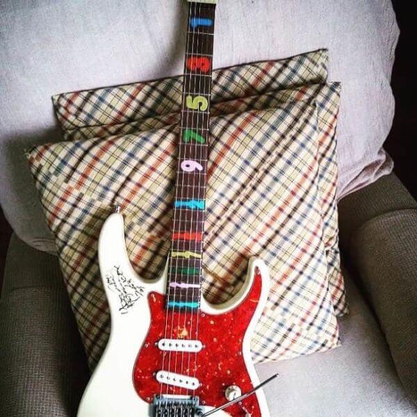Комплект цифры на гриф гитары