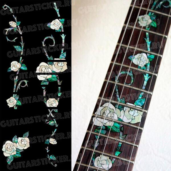 Комплект наклеек на гриф гитары цыганская роза