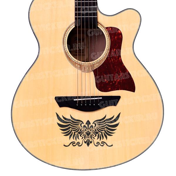 Наклейки в виде герба на гитару