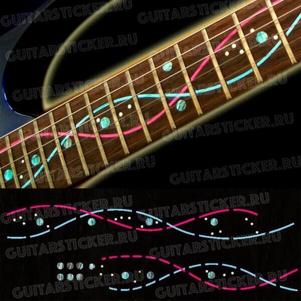 Инкрустация грифа гитары под ДНК