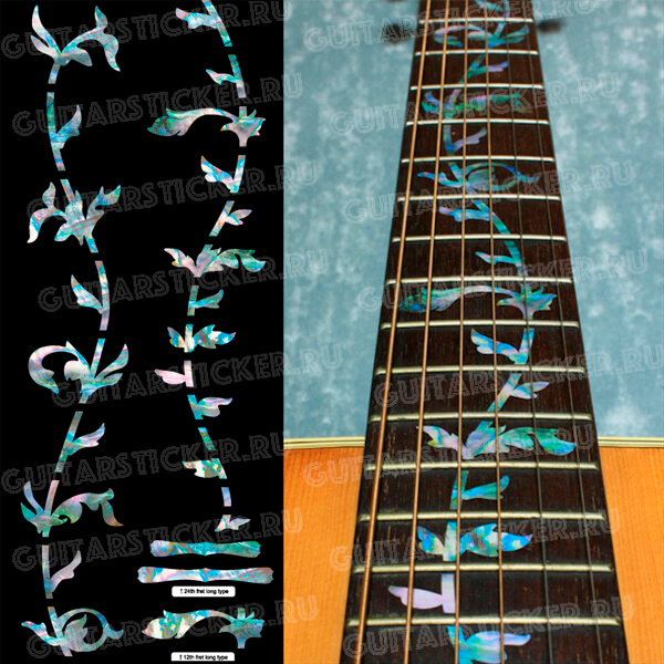 Комплект наклеек на гриф гитары Древо жизни
