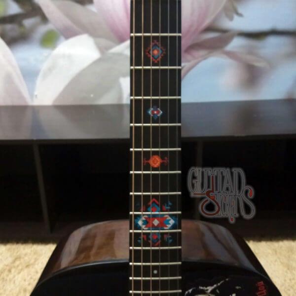 Купить виниловый комплект наклеек наклеек на гриф гитары этнические наклейки