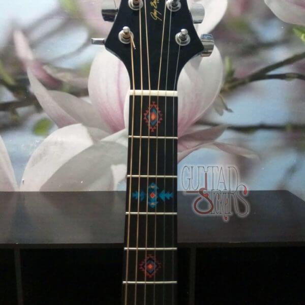 Американский стиль наклеек на гитару