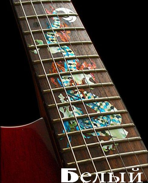 Купить наклейку дракон на гриф гитары