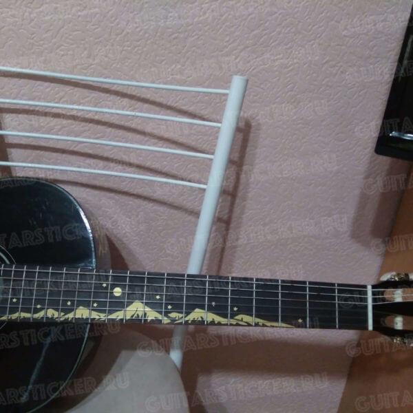 Купить наклейки стикеры на гриф гитары горы