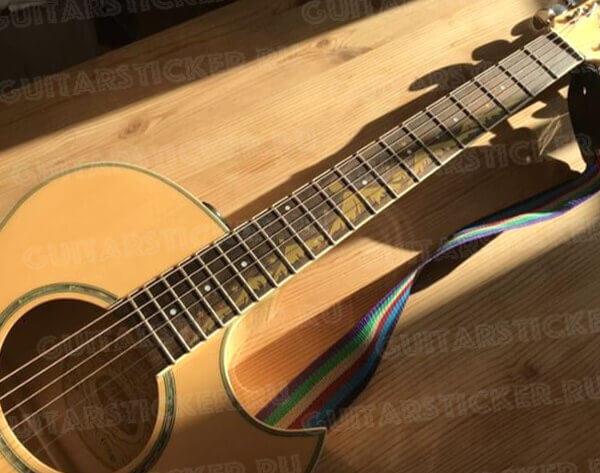 Купить виниловые наклейки на гриф гитары горы