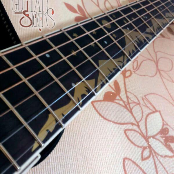Купить наклейки на гриф гитары горы