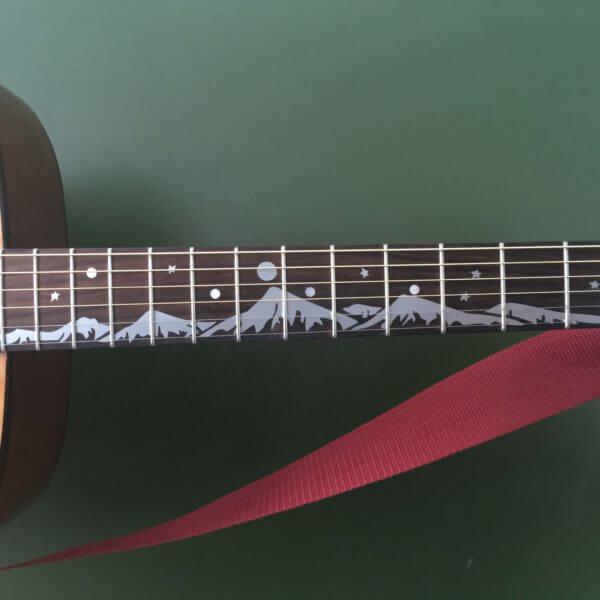 Купить наклейку горы на гриф гитары