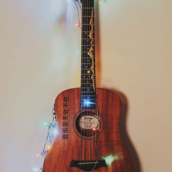 Купить наклейки горы на грифе гитары