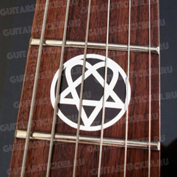 Хартаграмма на гриф гитары вместо точек