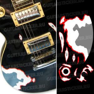 Комплект наклеек hetfield-guitar