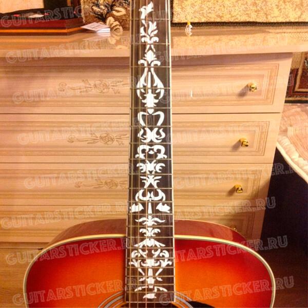 Хохлома на гриф гитары