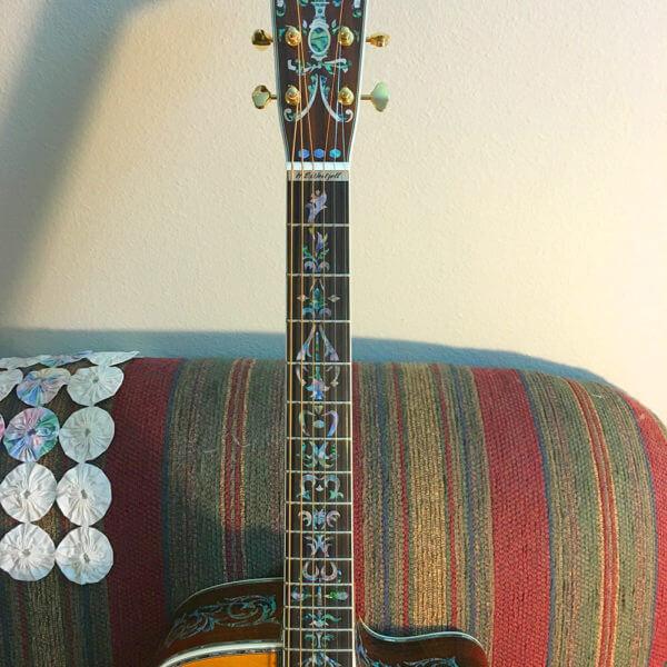 Купить комплект наклеек на гриф гитары в виде хохломы