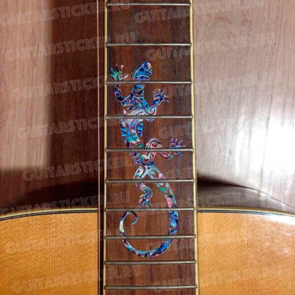 Купить наклейку ящерица на гриф гитары