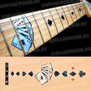 Карты на гриф гитары