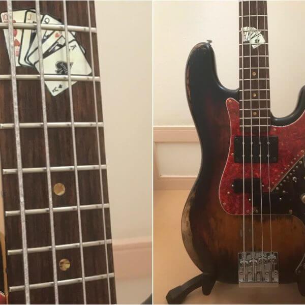 Купить комплект наклеек карты для грифа бас-гитары