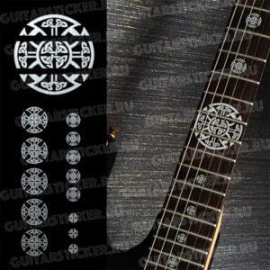 Наклейки кельтский крест на гриф гитары