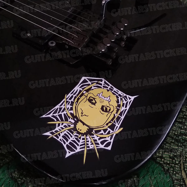 Купить наклейку на гитару с пауком как у Кирка Хэммета
