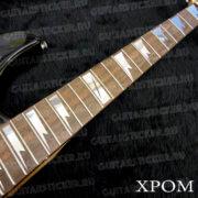 Комплект клыков на гриф гитары в цвете хром