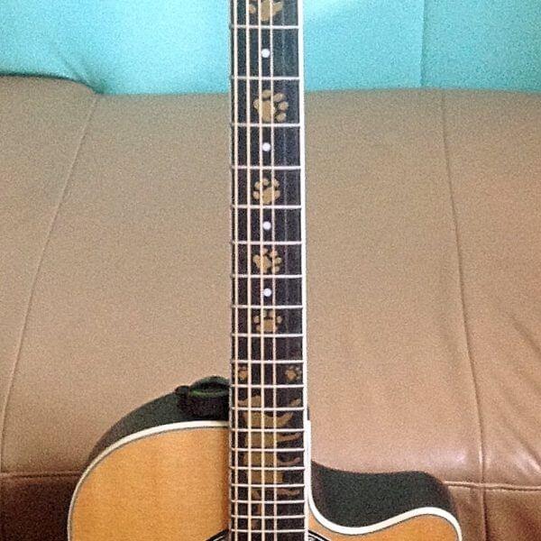 Купить виниловые наклейки кошачьи лапки на гриф гитары