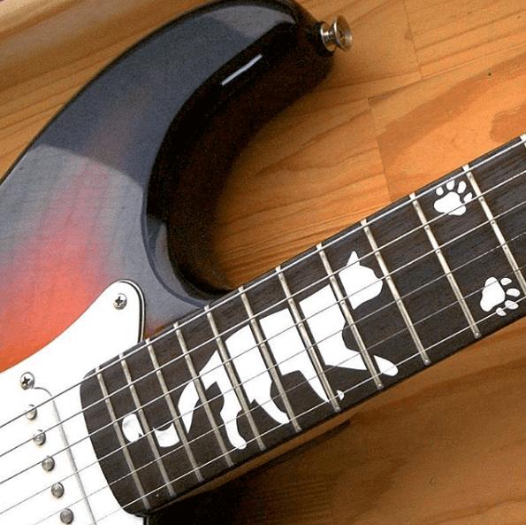 Кошачьи следы на гриф гитары