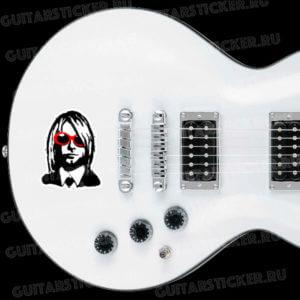 Купить наклейку для гитары Курт Кобейн