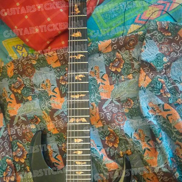 Купить комплект наклеек летучая мышь на гриф гитары