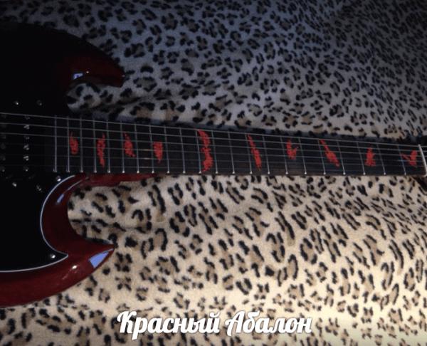Купить наклейки на гриф гитары с летучими мышами
