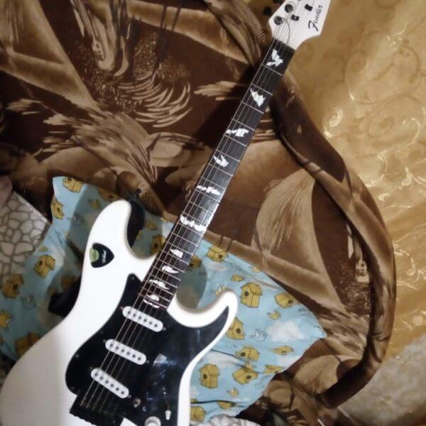Купить наклейки с летучими мышами на гриф гитары