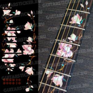 Комплект инлей-стикеров на гриф гитары Магнолия