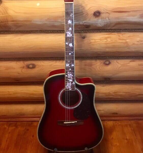 Комплект наклеек для грифа гитары - магнолия