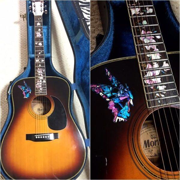 Купить инлей стикеры в виде цветов магнолии на гриф гитары