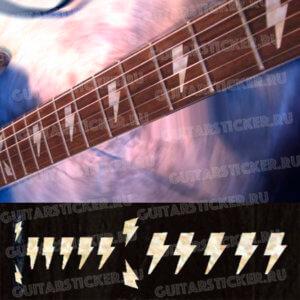 Комплект наклеек на гриф гитары молния
