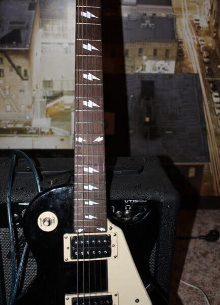 Комплект наклеек молния на гриф гитары