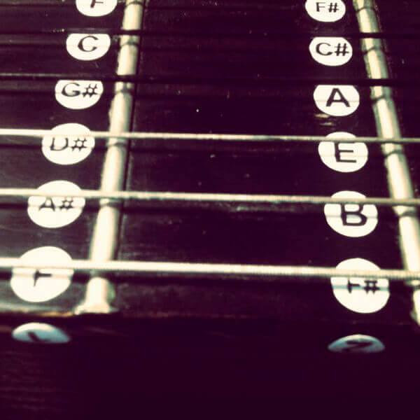 Купить наклейки ноты на гриф гитары
