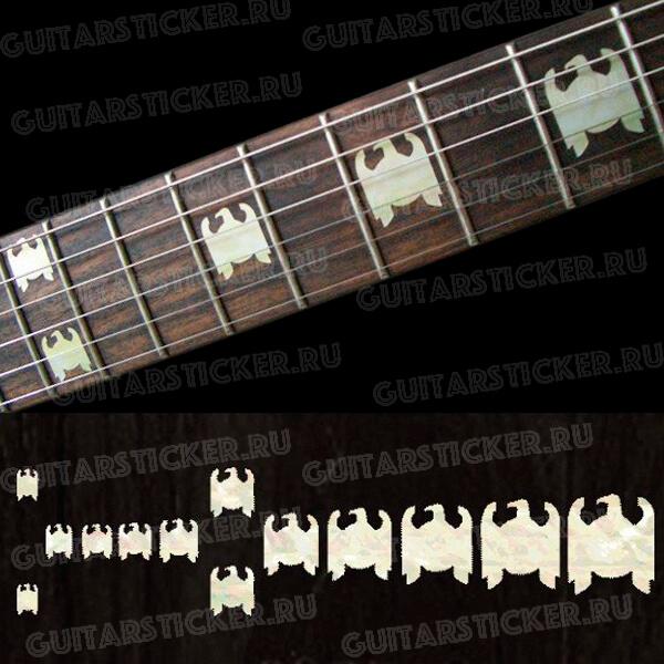 Наклейки в виде орлов на гриф гитары