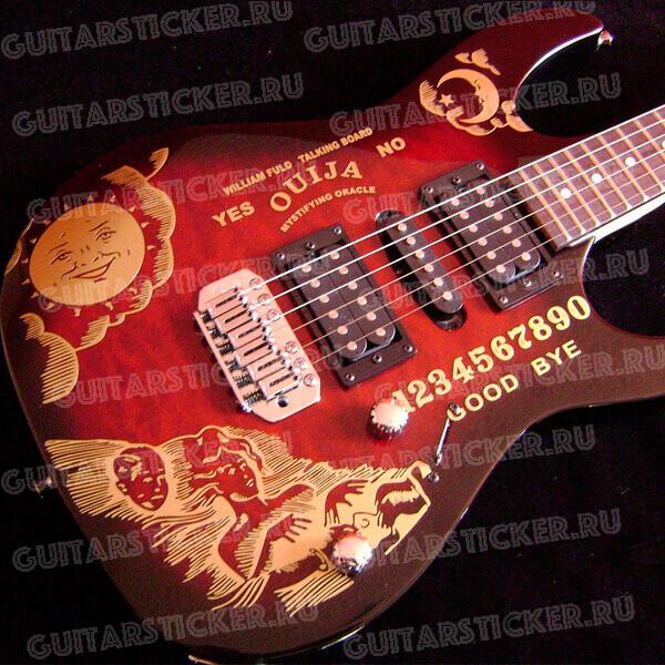 Комплект наклеек для гитары Ouija (Кирк Хэммет)