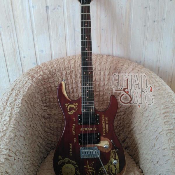 Наклейки металика ouija для гитары