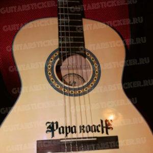 Купить наклейку на гитару с группой papa roach