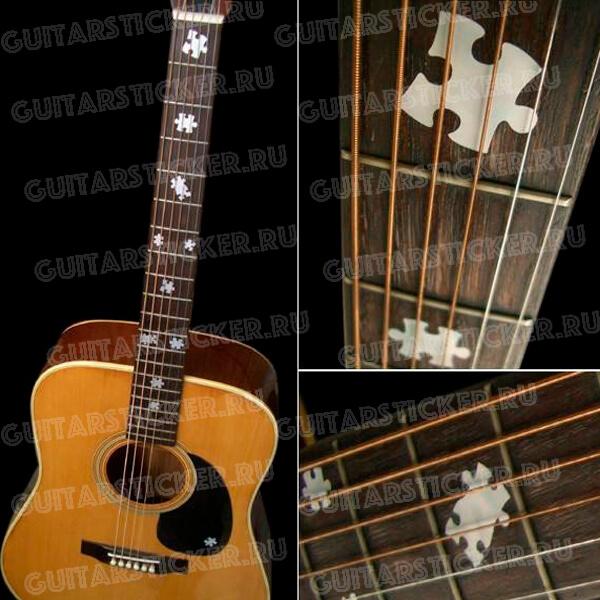 Купить наклейки на гитару пазлы