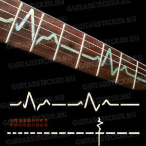 Комплект наклеек на гитару пульс