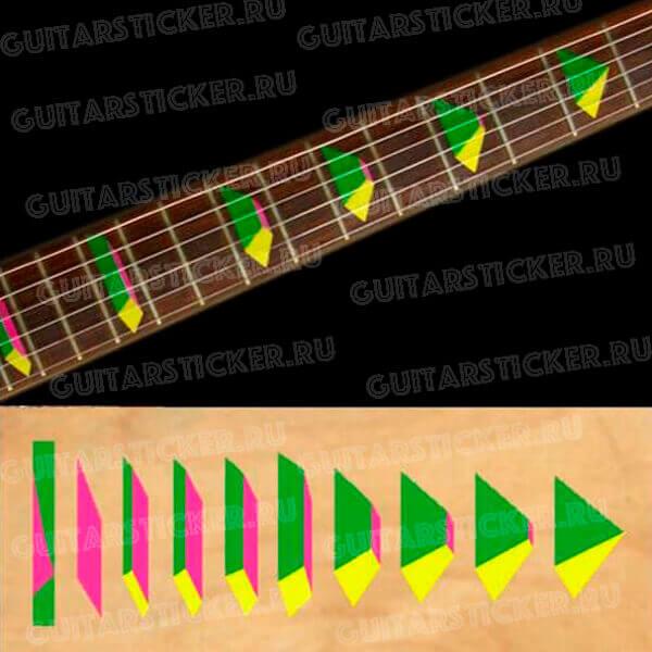Купить наклейки на гриф гитары пирамиды
